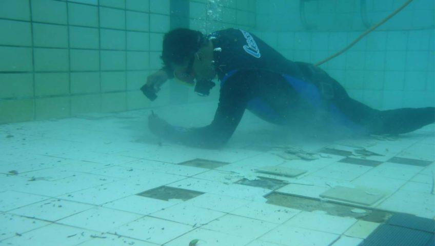 Reparos subaquáticos em piscinas
